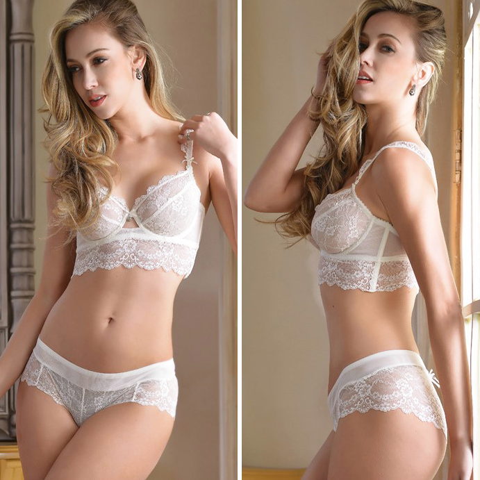 32 34 36 38 40 42 B C D Big Cup French Lace Bra Panties Set Thin Cup  Bombshell Underwear Set Sexy Lingerie Set   Intimates-in Bra   Brief Sets  from ... 297800312