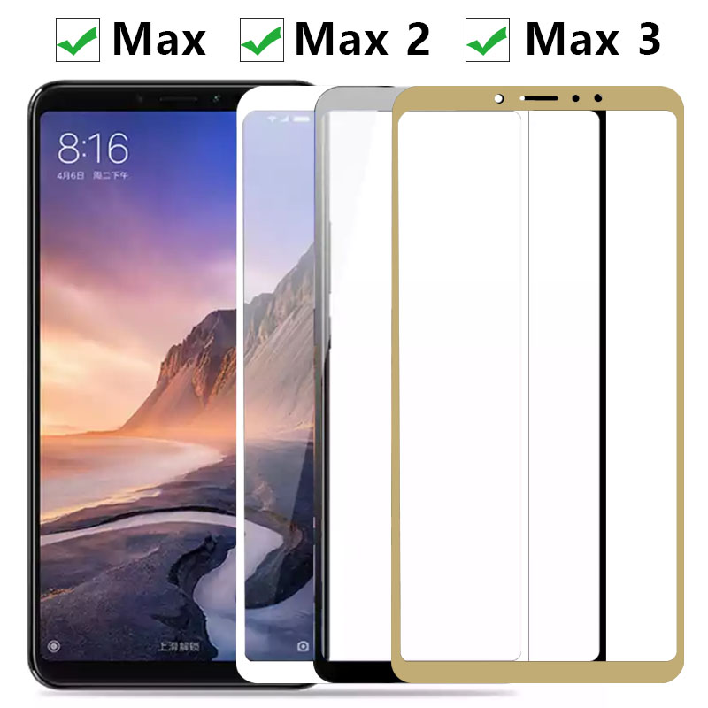 Protective Glass On For Xiaomi <font><b>Mi</b></font> Max 2 3 Screen Protector Tempered Glass on xiomi <font><b>xaomi</b></font> <font><b>mi</b></font> <font><b>max2</b></font> max3 Full Cover trempe verre 9H image