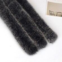 Меховой Длинный натуральный натуральный Лисий 75 см воротник зимний женский шарф пальто шапка с воротником длинная теплая натуральная меховая одежда аксессуары