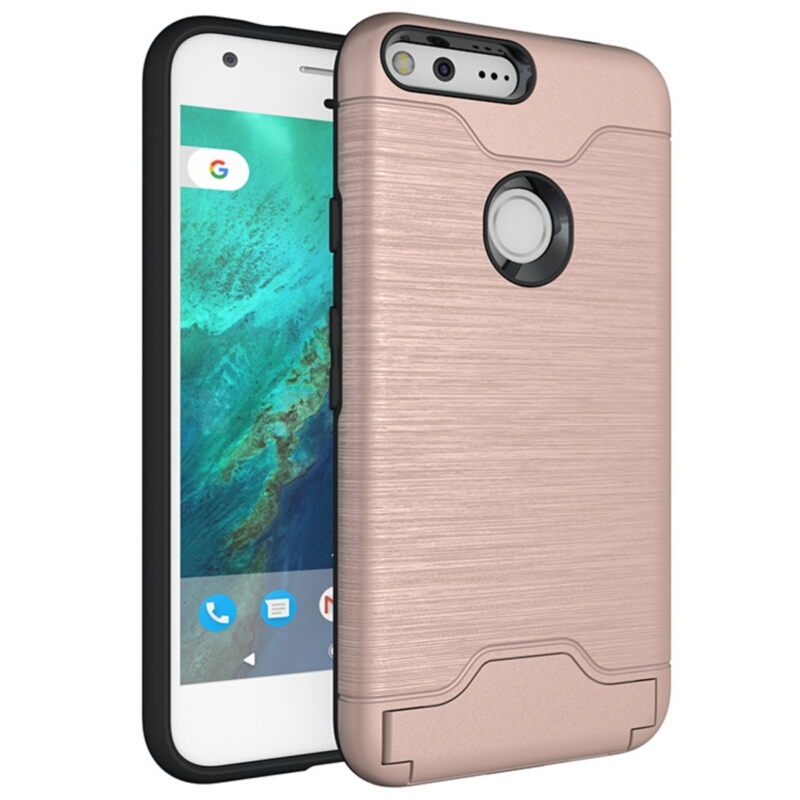 For Google Pixel XL Heavy Duty Shockproof Anti-Knock Housing Back Covers Credit Card Case For Google Pixel XL Shell