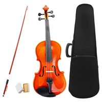 1 4 Size Violin Fiddle Basswood Steel String Arbor Bow For 6 8 Beginners P2X1