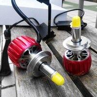 3D LED Head Light 360 Degree Copper Heat Sink Dual Ball Bearing Fan 12000 RPM 35W