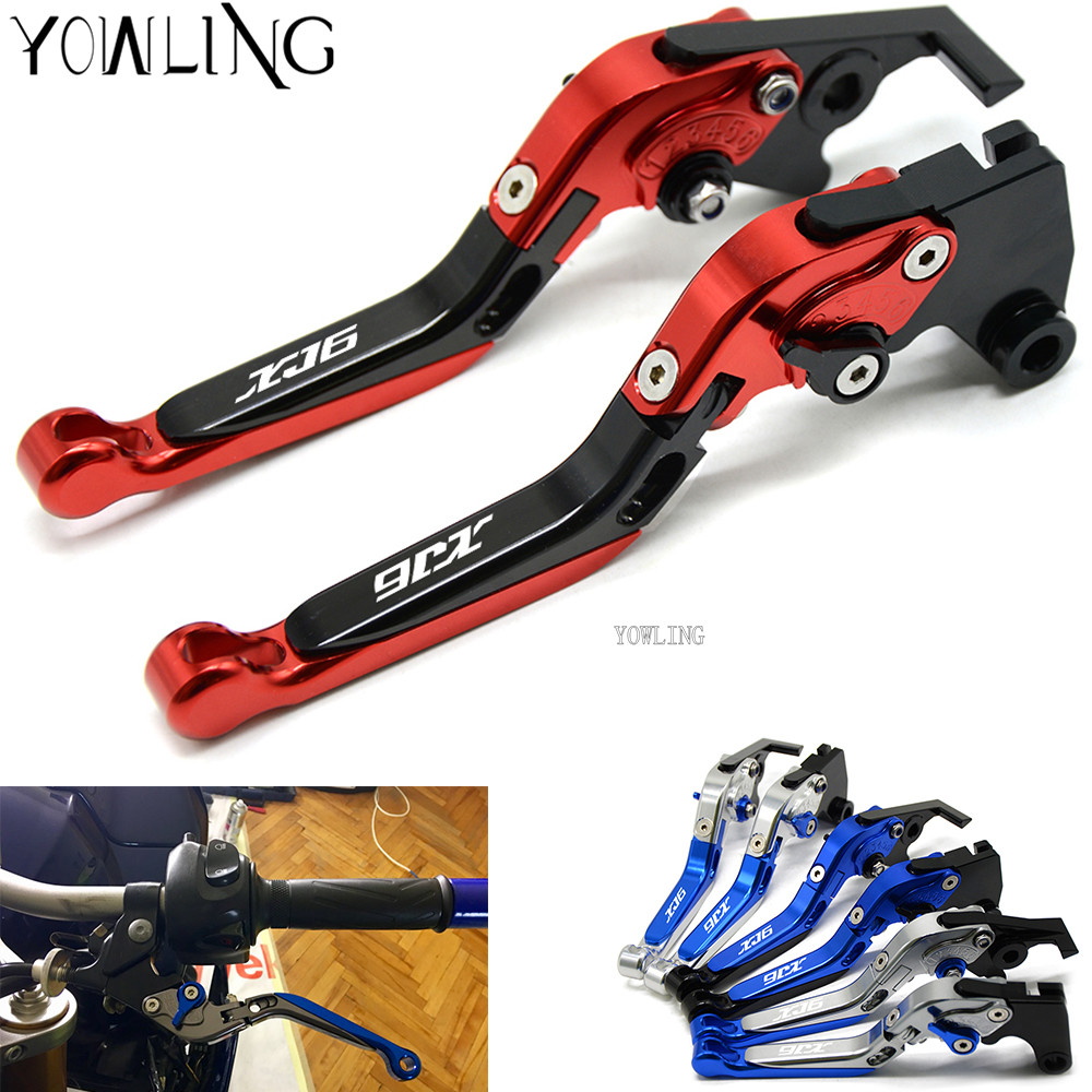 Adjustable Brake Clutch Levers Parts For Yamaha XJ6 N / XJ6 DIVERSION 2009 - 2015 Motorcycle CNC Aluminum Brake Levers Handle motorcycle adjustable cnc aluminum brakes clutch levers set motorbike brake for yamaha fz1 fazer 2006 2013 xj6 diversion 09 15