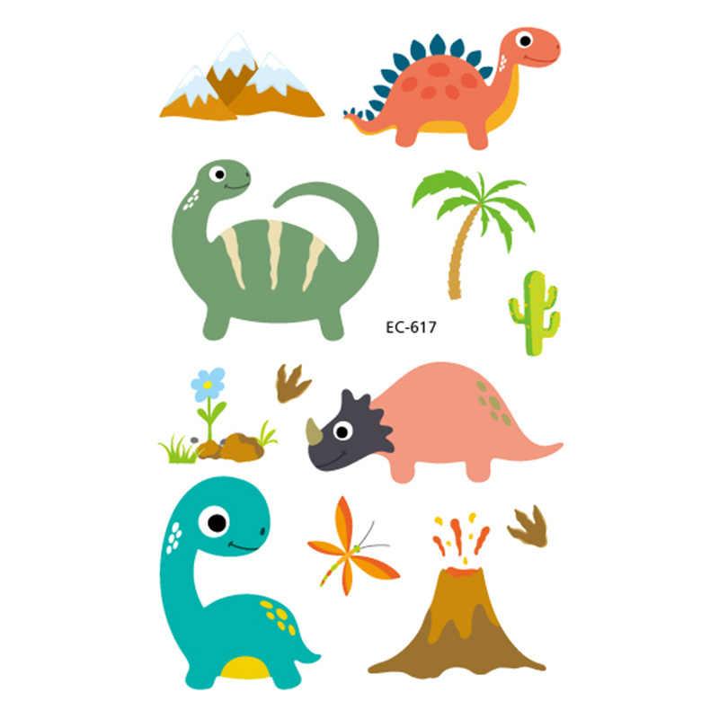 1pc cartoon temporary tattoo sticker dinosaur lion elephant flamingo bird owl cat new year girl kid