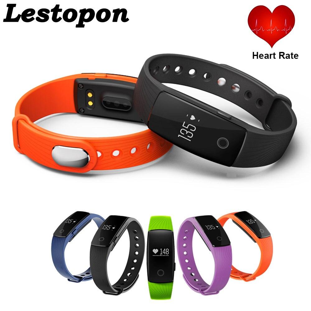 Bluetooth 4.0 Smart Band ID107 Fitness Tracker Smart Bracelet Watch Heart Rate M