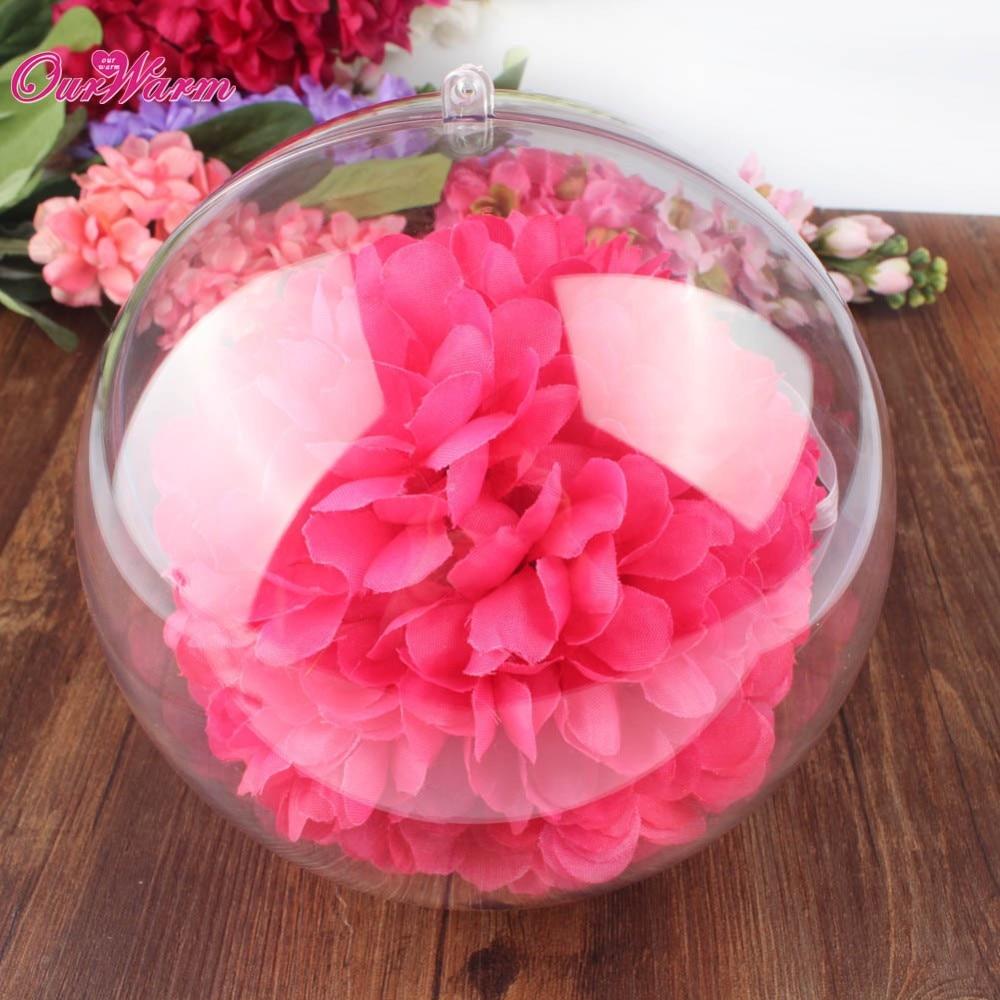 10pcs 100mm Clear Plastic Ball Christmas Ball Ornaments Wedding ...