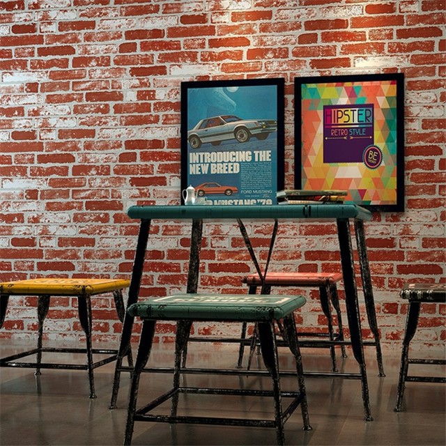 24810472a0b beibehang 3D Stereo Brick Wallpaper Country Weathered Brick Wallpaper Clothing  Store Chinese Restaurant Wallpaper