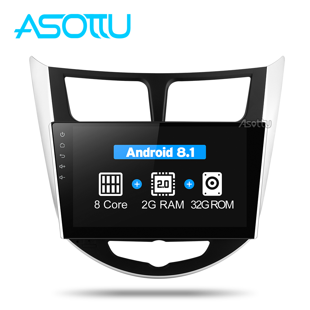 Asottu CRN9060 Android Car dvd gps player for Hyundai Solaris Verna Accent car headunit radio player