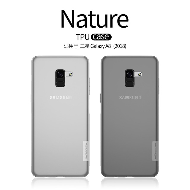 reputable site ceefd 5df2e For Samsung Galaxy A8+ 2018 Case Nillkin nature Transparent Clear Soft  silicon TPU For Galaxy A8 plus 2018 Back Cover phone case-in Fitted Cases  from ...