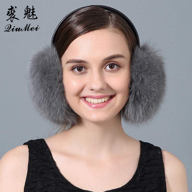 Fox Fur Earmuffs Women