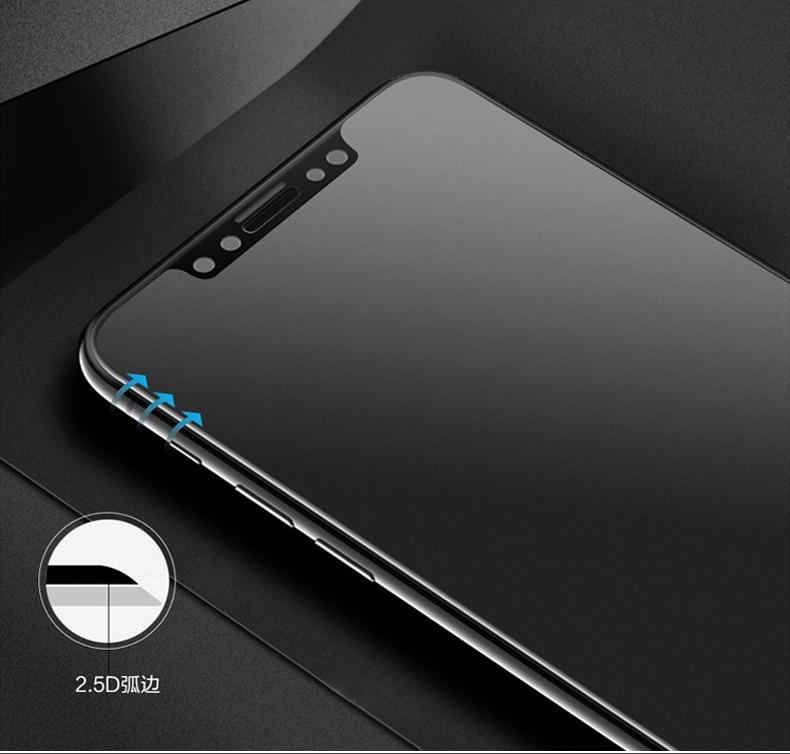 9H 2.5D matowy matowy pełna pokrywa szkło hartowane Screen Protector dla iPhone X XS MAX XR 10 8 7 6s 6 Plus 7Plus anty odciski palców 32