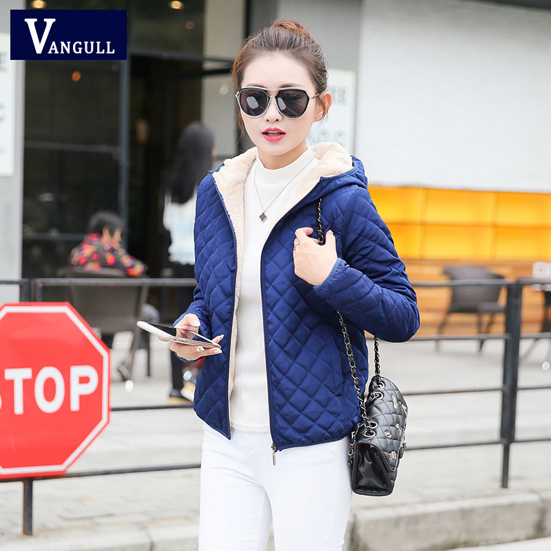 women hooded fleece solid coat winter jacket 2017 New Autumn spring thin outerwear female short parka zipper jaqueta feminina