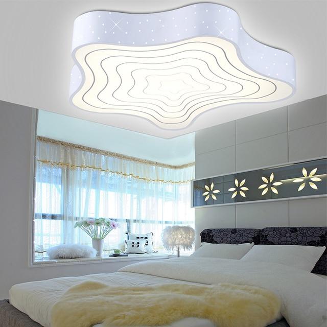 Neue 2015 Moderne Led Deckenleuchten Für Wohnzimmer Schlafzimmer Acryl  Schatten + Eisen Körper Seestern Form