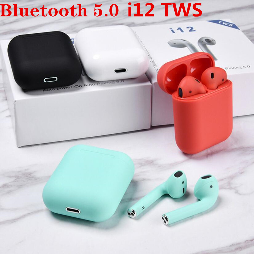 Original i12 <font><b>TWS</b></font> 2019 <font><b>Wireless</b></font> <font><b>earphones</b></font> <font><b>MIni</b></font> Earbuds <font><b>Bluetooth</b></font> 5.0 For iPhone For Samsung Forxiaomi not <font><b>i7s</b></font> i9s i11 i20 i30 image
