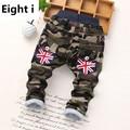 2-6 anos baby boy calças da menina das crianças casuais meninos grossas de inverno calças para crianças de algodão das crianças quentes calças de camuflagem