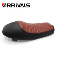 for Retro Cafe Racer Motorcycle Seat Cushion Motorcycle Refit Flat Vintage Cushion Saddle for Honda CB CL AX100 CG125