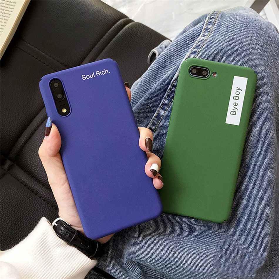 Caso Para Huawei Companheiro 10 9 machadinha Azul Royal Pro Companheiro 10 Lite/Nova 2i Dinossauro Verde Retro Fosco carta de Plástico Rígido Tampa Traseira