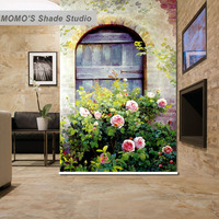 MOMO Blackout Floral House Window Curtains Roller Shades Blinds Thermal Insulated Fabric Custom Size, Alice 431 432