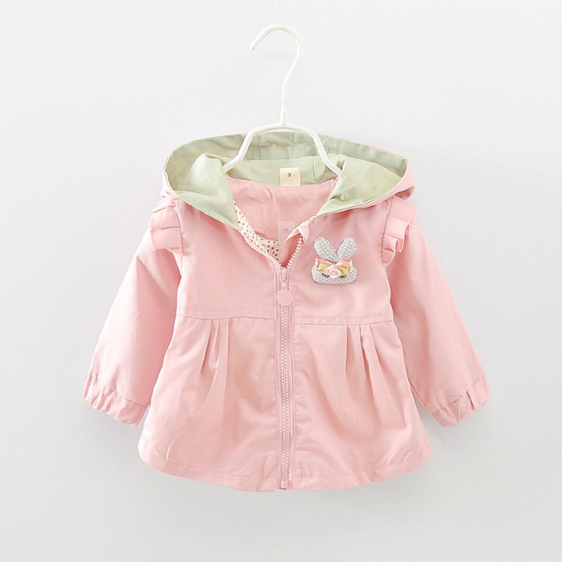 Baby Girls Jackets Girls Trench Coat 2019 Children Coat Kids Cute Rabbit Outerwear Girls Clothing Autumn Fashion Outerwear