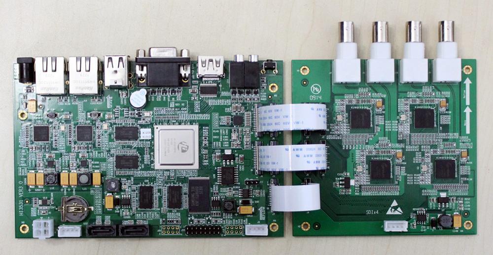 For Haisi HI3531 Development Board 4xSDI 1080P Coding Board Super Large Memory Dual Gigabit Network Card Nand
