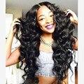 Синтетические Парики для Чернокожих Женщин Афроамериканца Парики Женщина С Длинными Вьющимися Волосами парик Бейонсе Прическа