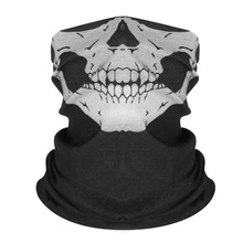 Halloween Decoration Skull Skeleton Mask Outdoor Motorcycle Bicycle Multi function Neck Warmer Ghost Half Face Mask Scarf