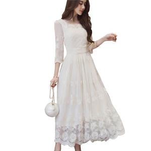37233a024c553 Summer White Long Party Dresses Boho Beach Dress robe femme
