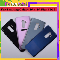 battery samsung galaxy 10Pcs/lot For Samsung Galaxy S9 Plus G965 G965F G9650 SM-G965F Housing Battery Door Rear Back Glass Cover Case Chassis Shell (1)