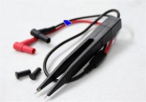 NEWACALOX мульти SMD индуктор тестовый зажим Пинцет резистор Цифровой Мультиметр LCR конденсатор метр провод ручка кабель игольчатый наконечник