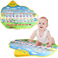 New Play Mats Russian Language Children Learning Funny Alphabet Mat Learning Education Phonetic Sound Carpet Play Mats Toys