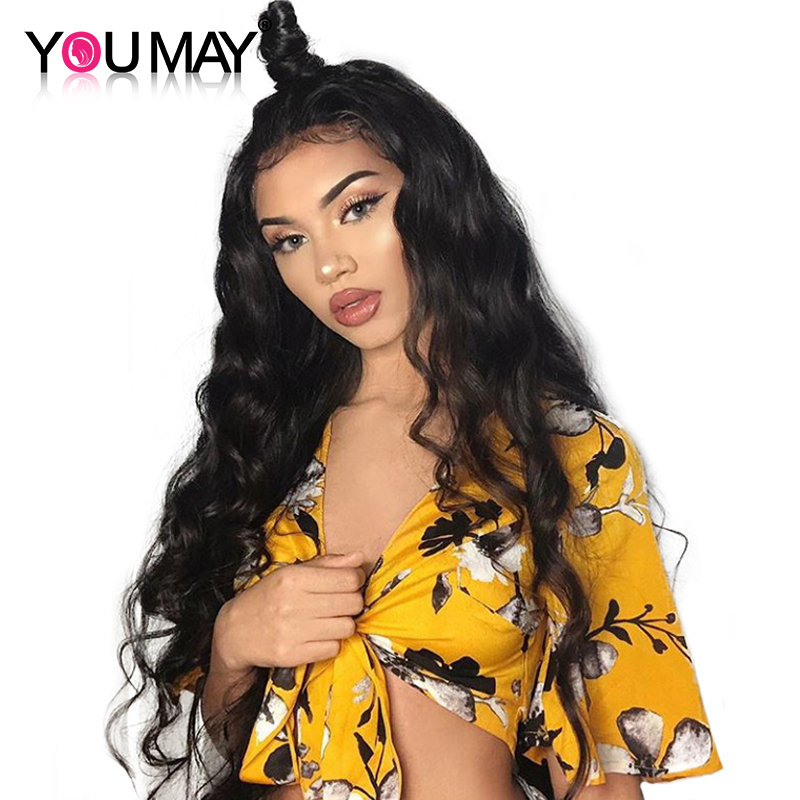 Pre Plucked Lace Front Human Hair Wigs For Women Brazilian Wig Human Hair With Baby Hair Body Wave 130% Density You May