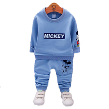 Toddler Girls Clothing Sets Baby boys Sport Suits Kids Mickey Minnie Cartoon Sweatshirt Coat Pants Set Fashion Children