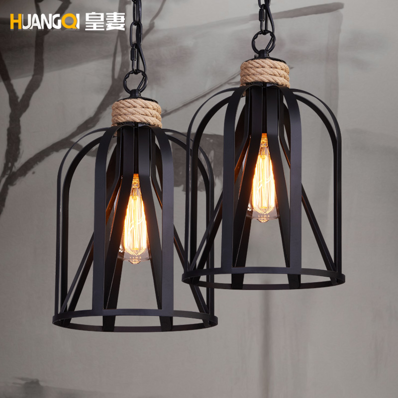 ФОТО The wife of American Iron Lamp Retro chandelier bar coffee clothing store dining room Chandelier