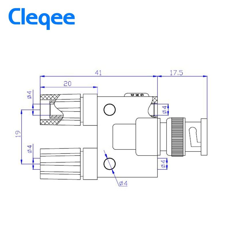 """""""Cleqee P7009 5Pcs BNC"""" vyrių kištukas į dviejų dvigubų - Matavimo prietaisai - Nuotrauka 3"""