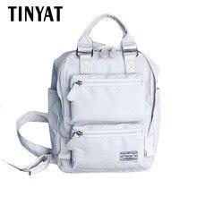 Tinyat новые стильные женские рюкзак холст Kanken Модные Винтажные рюкзак дизайнер школы Mochila девушка путешествия Back Pack