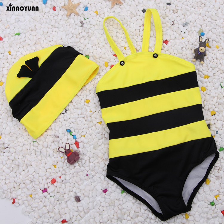 Bikini 2018 Girls Swimwear Biquinis Bee Modeling Childrens Bathing Suit Baby Girl Kids S ...