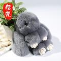 Auténtico Real Rex Pieles de Conejo Llavero Bolsa Colgante Encanto Coche Tag Llaveros Lindo Mini Monster Muñeca de Juguete Conejo de Piel alrededor 15 cm