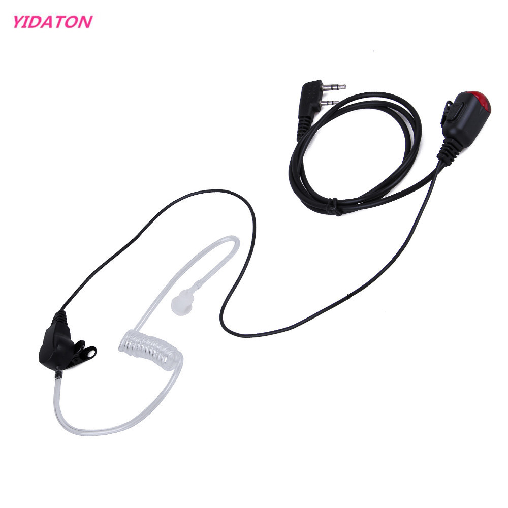 Neue 2 PIN Mic PTT Covert Akustische Rohr In-ear-ohrhörer für Kenwood Baofeng uv 5r 888 s Walkie Talkie C2275A Kopfhörer Headset