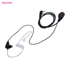 New 2 PIN Mic PTT Covert Acoustic Tube In-ear Earpiece for Kenwood Baofeng uv 5r 888s Walkie Talkie C2275A Earphone Headset(China)