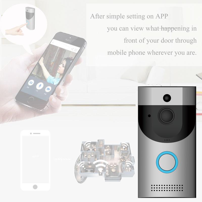 Video Door Phone PIR Alarm Night vision two way audio Home Garden Anti-theft 720P wifi video intercom Doorbell