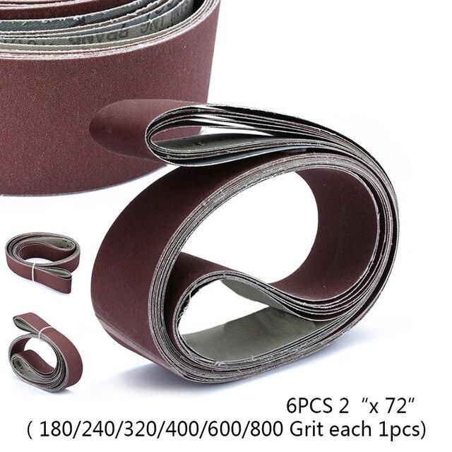 Хороший 6 шт./компл. 2X72 абразивное шлифование лента для шлифовального станка 10 упак. наждачная бумага ремни T Home инструмент шлифовальные маши...