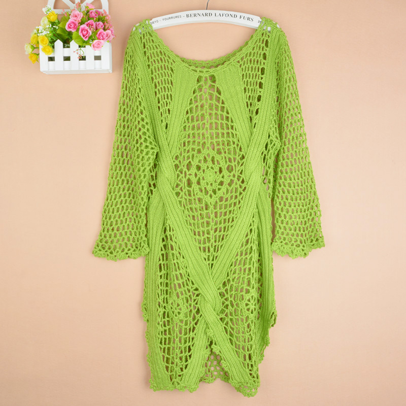 새로운 패션 봄 가을 새로운 패션 수제 hollowout 니트 풀오버 긴 스타일 큰 사이즈 여성 스웨터 화이트 블랙 1311 #