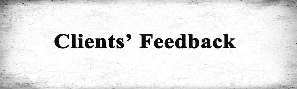 client feedback1
