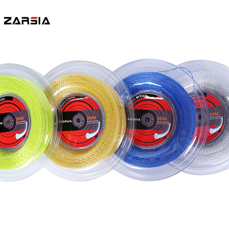 ZARSIA  Soft Feeling Tennis Racket Training String Threaded Elastic Tennis String