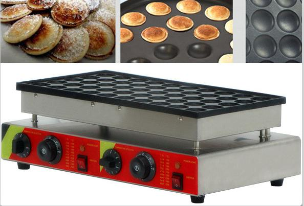 Free Shipping 50 holes Commercial Use Non-stick 110v 220v Poffertjes Grill Dutch Waffle Maker Mini Pancake Machine 2017 electric 110v 220v 25 holes poffertjes grill dutch waffle maker mini pancake machine