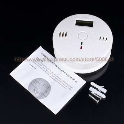 Home Security Carbon Monoxide Alarm Gas Sensor Warning CO Detector with LCD Display & 20PCS/Lot DHL/UPS/EMS Free Shipping