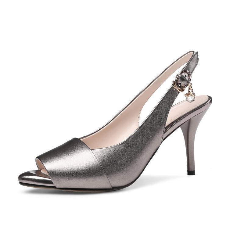 cfe7f401c7 Mujeres Cm 8 Noche Zapatos Alto 43 blanco Atractivos Cuero Talón Negro Del  Mujer Grande gun ...