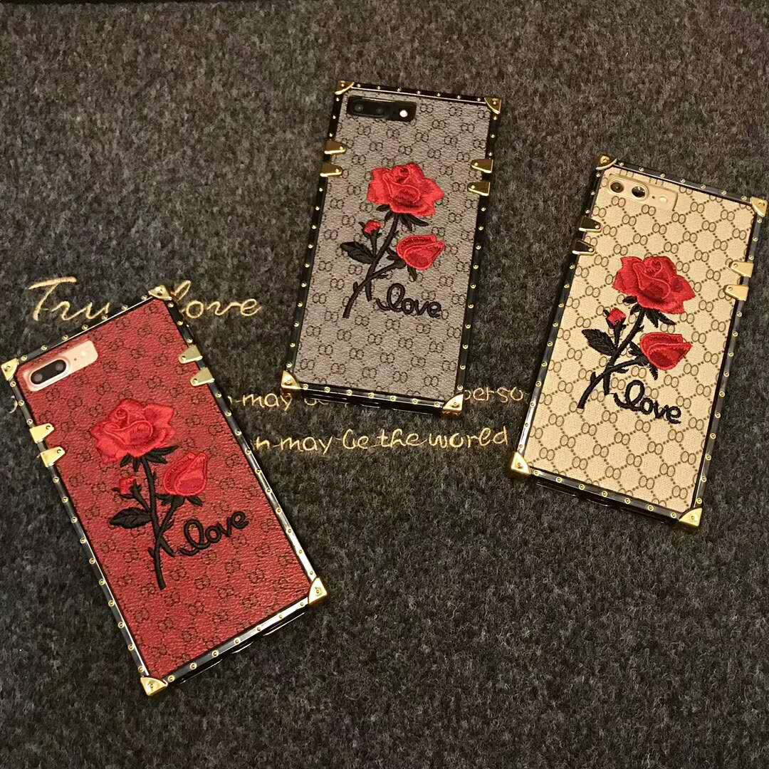 New brand embroidery roses mobile phone shell lanyard For iphone 6 6S 7 8 Plus X  female models wholesale-in Half-wrapped Case from Cellphones & Telecommunications on Aliexpress.com | Alibaba Group