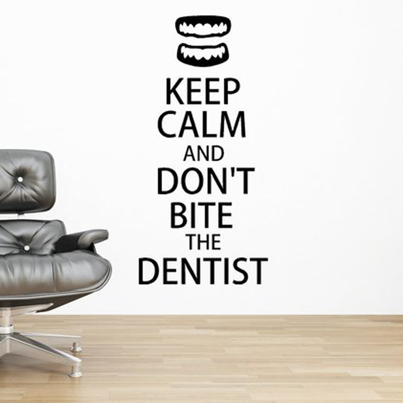 27188b0cca [HOT DEAL] US $8.54 for Keep Calm Dentist Vinyl Wall Decals Tooth  Stomatology Interior Wall Stickers Murals Removable Art Wallpaper N78
