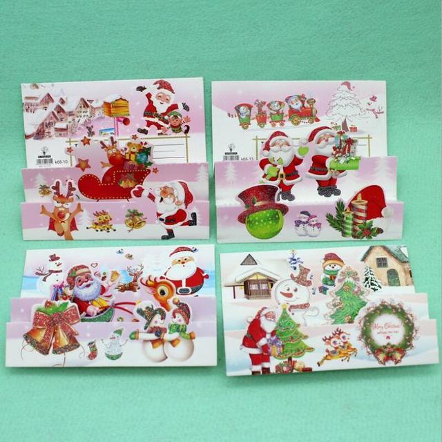 18 Pcs Lot 3d Printing Three Fold Christmas Card Kids Greeting Cards